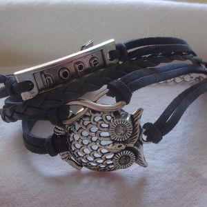 Jewelry - Hope Infinity owl bracelet